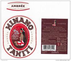Polynésie Française / Tahiti - Etiquette De Bière Hinano / Ambrée - TTB - Beer