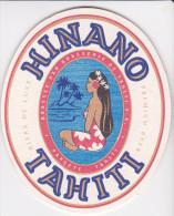 Polynésie Française - 1 Sous-bock - Hinano Tahiti / Bleu Clair - Beer Mats