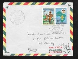 Sénégal FDC Lettre Premmier Jour Circulée Par Avion Dakar 11/12/1970 à Neuilly N°339 Et 340 Conférence Du Scoutisme B/TB - Senegal (1960-...)