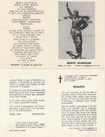 16302) LUTTINO BENITO MUSSOLINI STAMPATO A PREDAPPIO 1957 - Documenti Storici