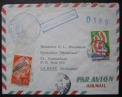 Côte D'ivoire 1973 Jolie Lettre Pour La Haye (Pays Bas) Avec Cachet Du Secrétariat D'état Chargé Des Mines - Côte D'Ivoire (1960-...)