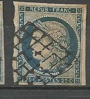CERES N° 4 BLEU OBL - 1849-1850 Cérès