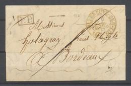 1833 LOT ET GARONNE Lettre Port Payé CAD Type 13A VILLENEUVE-SUR-LOT X3001 - Marcophilie (Lettres)