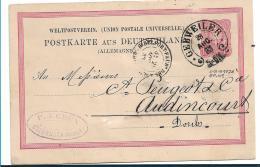 EL119 /  ELSASS-LOTHRINGEN - Gebweiler, Hufeisenstempel Auf Pfennig, Ganzsache 1883 - Allemagne