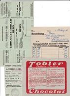 Chocolat TOBLER, 4 Documents - Switzerland