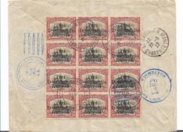 Gua095 / Guatemala,  Freimarken Von 1921 Im 12-er Block 1922 Nach St. Savinien, Frankreich - Guatemala