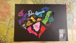 Taiwan Map -  Postcard Sent From Taipei To Kiev - Taiwan