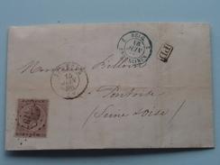 Brief 1866 Van Hauts-Fourneaux USINES & CHARBONNAGES De SCLESSIN > ONTOISE France : Stamp Jemeppe & Erquelines ! - Belgique