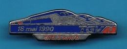 1 PIN'S //  ** TGV / 18 MAI 1990 // VITESSE 515,3 Km H ** . (Decat Paris) - TGV