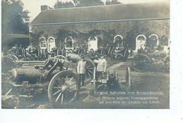 Liège Lüttich Eroberte Belgische Festungsgeschütze Auf Dem Hofe Der Citadelle ( Militaria ) 1914/ 1918 Deutsche Soldaten - Personen