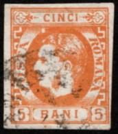 ROM SC #37 U 1869 Prince Carol 4-margins CV $42.50 - 1858-1880 Moldavia & Principality