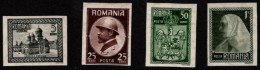 ROM SC #289ff MH (HR) 1922 K Ferdinand I And Q Marie Imperf CV $150.00 (H) - 1918-1948 Ferdinand, Charles II & Michael