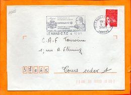 SARTHE, Le Mans, Flamme SCOTEM N° 18465, Gaston Waringhein, Heraut De L'Esperanto, 29 Juillet 1901 - 20 Decembre 1991 - Marcophilie (Lettres)