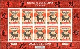 Wallis Et Futuna 2018 - Nouvel An Chinois, Année Du Chien - Feuillet De10 Val Neufs // Mnh Sheetlet - Ungebraucht