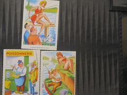TI - Carte HUMOUR Pêche Et Pin Up  -lot De 3 Cartes - ILLUSTRATEUR (-)AROT - Visvangst