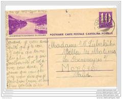 6 - 24 - Entier Postal Illustration Les Brenets - Dentelure à Gauche - Cachet Ambulant 1940 - Interi Postali