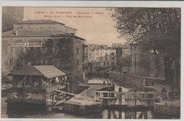 11 Narbonne Ecluse De La Robine Bateau Lavoir  Moulin CPA Animée édit Frunot ? Illisible N°46 - Narbonne