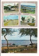Marseillan Plage: Le Bassin, La Promenade, Le Camping Municipal Et L'étang De Thau - 2 Cartes - - Marseillan