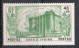 COTE-D'IVOIRE N°146 N*  REVOLUTION - Ivory Coast (1892-1944)