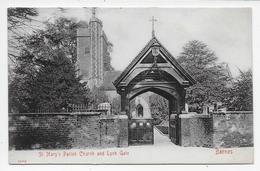 Barnes - St. Mary's Parish Church And Lych Gate - Stengel 26352 - London Suburbs