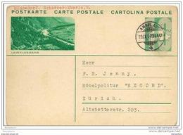 4 - 89  -  Entier Postal Avec Illustration Lavey-les-Bains - Superbe Cachet à Date Ambulant 1934 - Interi Postali
