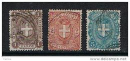 REGNO:  1896/97  STEMMA  -  S. CPL. 3  VAL. US. -  SASS. 65/67 - 1878-00 Umberto I