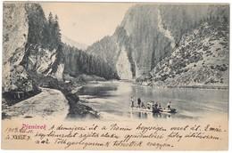 # 8529 Poland & Slovakia, Pieninek Postcard Written Unused 1903: With Boat On The River Dunajec, Mountains - Polen