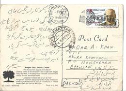 USA Post Card Niagara Falls 1988 36c Igor Sikorsky Slogan Cancellation. - Brieven En Documenten