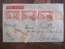 Lettre MOYEN CONGO Pointe Noire 1936 France Enveloppe Cover Colonie AEF Empire Recommandé Bel Affranchissement - Frans-Kongo (1891-1960)