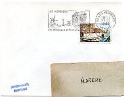 VENDÉE - Dépt N° 85 = LES HERBIERS 1966 = FLAMME CONCORDANTE N° 1439 = SECAP Illustrée ' SITE HISTORIQUE ' Codée - Mechanical Postmarks (Advertisement)