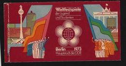DDR - MH 7 - 1 (16 A + 17 A) Weltfestspiele Der Jugend, 1973 Postfrisch - [6] República Democrática
