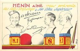 - Thèmes -ref-A515- Publicite Henin Ainé - Bleu Superieur Et Billes Professeurs -  Dessin Peinture  - Arts - - Publicité