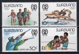 Swaziland Set Of Stamps Celebrating Olympic Game Los Angeles From 1984. - Swaziland (1968-...)