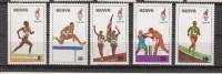 1996 Kenya Atlanta Olympics Boxing Running Complete Set Of 5 MNH - Kenya (1963-...)