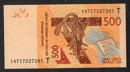 TOGO  ( West African States) 500 Francs 2012- P815T - UNC - Togo