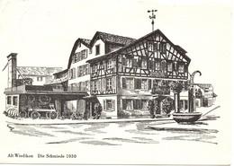ALT WIEDIKON Litho Restaurant Die Schmiede 1930 - ZH Zurich