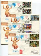 FDC R-COVERS X4 USSR 1979 INTERNATIONAL YEAR OF THE CHILD Mi# 4878-81 - Other