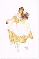 Art Deco 1920 Lady - Anny Engelmann - Künstlerkarten