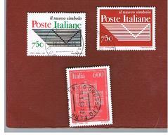 ITALIA REPUBBLICA  - UNIF. 2166.2168       -   1994 POSTE ITALIANE ENTE ECONOMICO    -            USATO - 6. 1946-.. Repubblica
