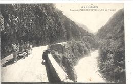 ROUTE DE PIERREFITTE A LUZ AU TUNNEL + ATTELAGE AU 1er PLAN . NON ECRITE - France