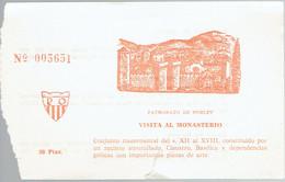 Ancien Ticket D'entrée Au Monastère Monasterio De Poblet (Espagne) (Années 1970) - Tickets D'entrée