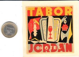 ETIQUETA DE HOTEL  -  HOTEL TABOR  - JORDÁN  (JORDANIA) - Hotel Labels