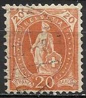 Svizzera Lotto N.A 81 Anno 1905-6 Yvert N.93 Usato - Oblitérés
