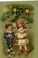 Joyeux NOËL - ENFANTS - Gaufrée, Relief, Embossed - Christmas