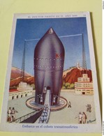 Lot Of 2 SPACE CARDS - SPANISH SPACE ADVENTURES 1936 - SCI -FI - UFO - OVNI - SOUCOUPE - Confectionery & Biscuits