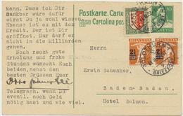 Ganzsache Heimat - Solothurn Mit Zusatzfrankatur Pro Juventute 1922 - Entiers Postaux