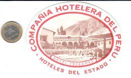 ETIQUETA DE HOTEL  - HOTEL URUBAMBA -COMPAÑIA HOTELERA DEL PERU - Hotel Labels