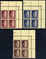 GENERAL GOVERNMENT 1942 Birthday Of Hitler In Corner Blocks Of 4 MNH / **.  Michel 89-91 - Occupation 1938-45