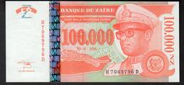 ZAIRE : 100.000 Noveau  Zaires - P76 - UNC - Zaire