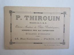 Publicité P Thirouin éleveur Chien Bouledogues Rue Nationale Paris 13 - Advertising